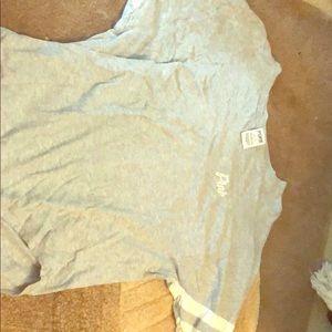 Victoria secret pink cropped sleeve shirt